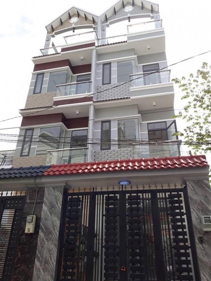 Bán nhà hẻm 1979 đường Huỳnh Tấn Phát, thị trấn Nhà Bè, DT 4 x 18.5m, 3 lầu ST