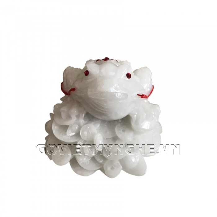 Tượng Đá Cóc Thiềm Thừ 3 Chân Phong Thủy - Size Lớn - Đá Non Nước   Kích thước: Dài 14cm x Rộng 12cm x Cao 11cm . Giá : 280.000₫