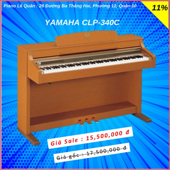Piano Yamaha CLP-340C. BH 2 năm0