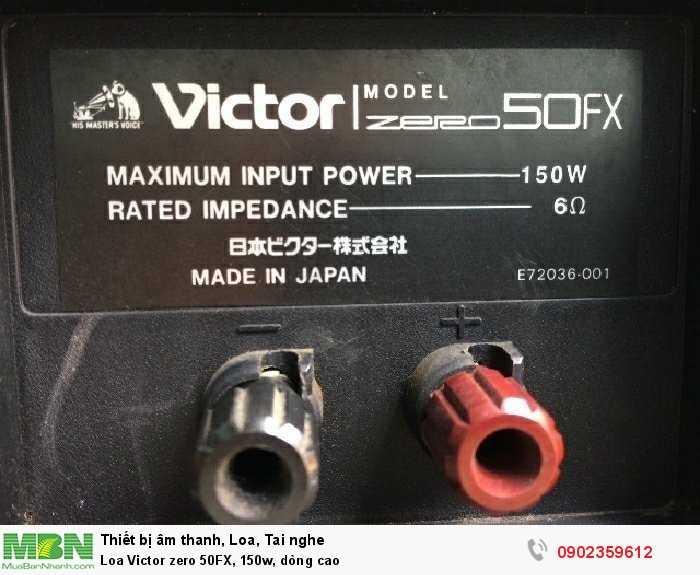 Loa Victor zero 50FX, 150w, dòng cao2