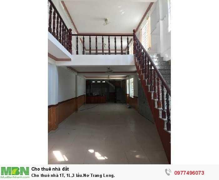 Cho thuê nhà 1T, 1L,3 lầu.Nơ Trang Long.
