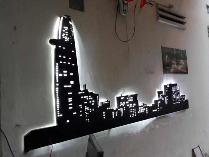 Thi công lắp đặt mô hình 3d trang trí cho quán và shop