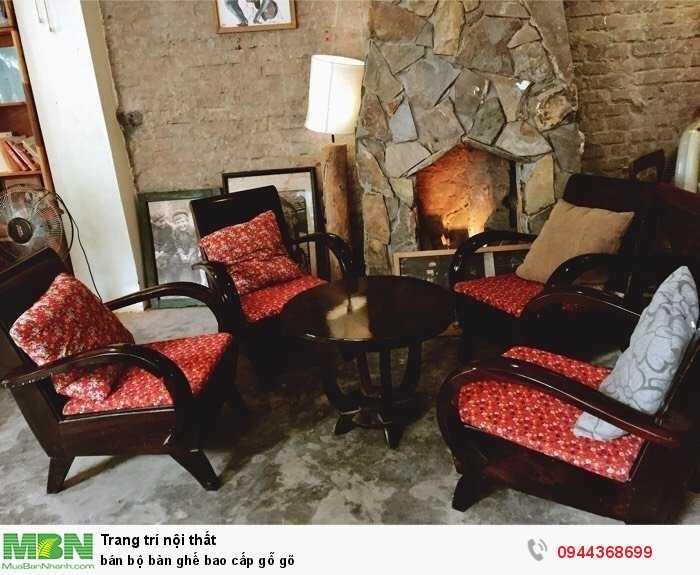 Bán bộ bàn ghế bao cấp gỗ gõ1