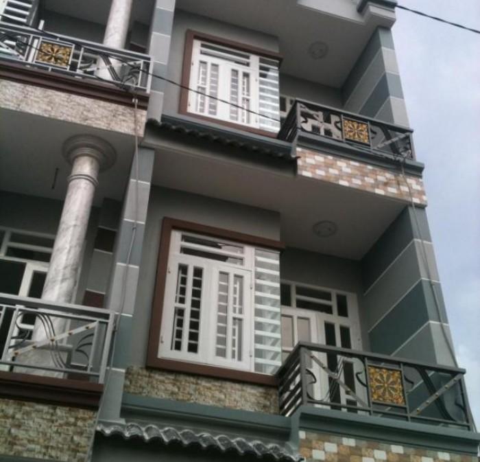 Nhà Bình Tân, hẻm thông 6m, gần chợ, trường học, 2 lầu
