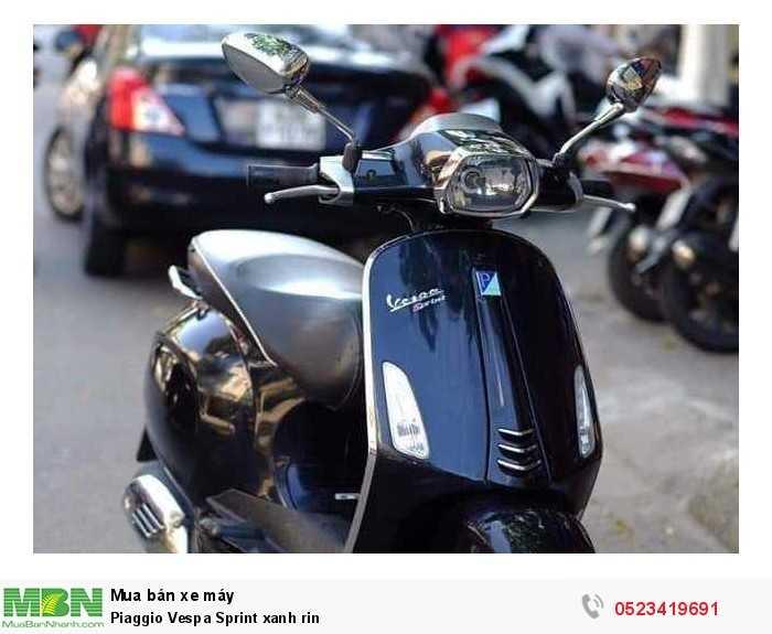 Piaggio Vespa Sprint xanh rin