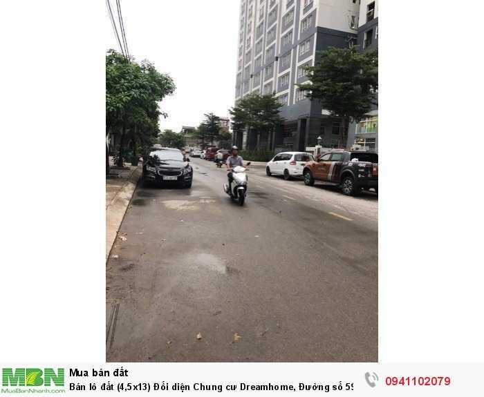 Bán lô đất (4,5x13) Đối diện Chung cư Dreamhome, Đường số 59, P14, Gò Vấp
