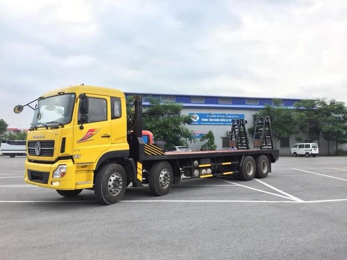 Bán Xe Nâng đầu chở máy công trình Dongfeng 4 chân