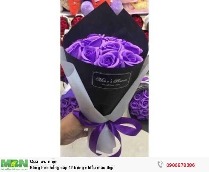 Bóng hoa hồng sáp 12 bông nhiều màu đẹp1