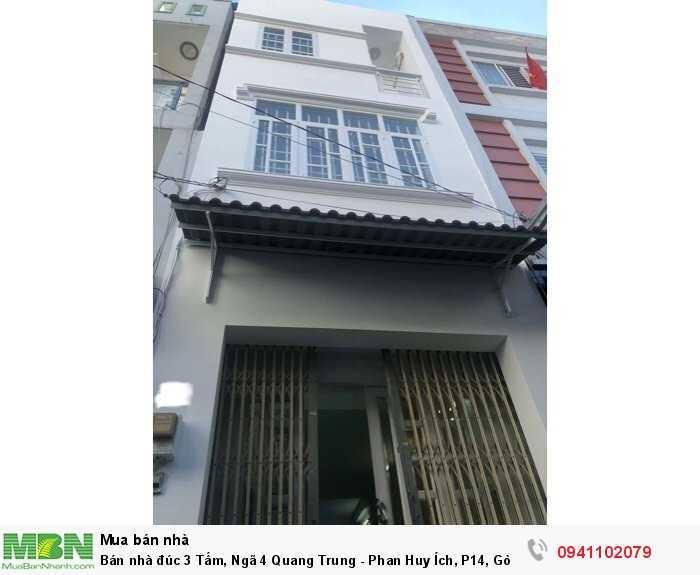 Bán nhà đúc 3 Tấm, Ngã 4 Quang Trung - Phan Huy Ích, P14, Gò Vấp