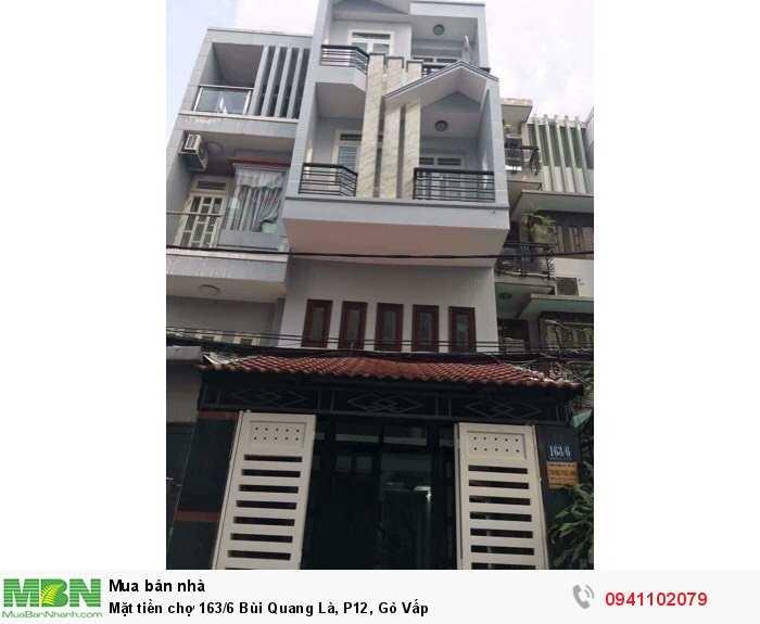 Mặt tiền chợ 163/6 Bùi Quang Là, P12, Gò Vấp