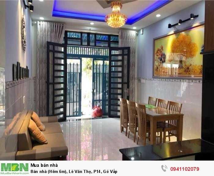 Bán nhà (Hẽm 6m), Lê Văn Thọ, P14, Gò Vấp