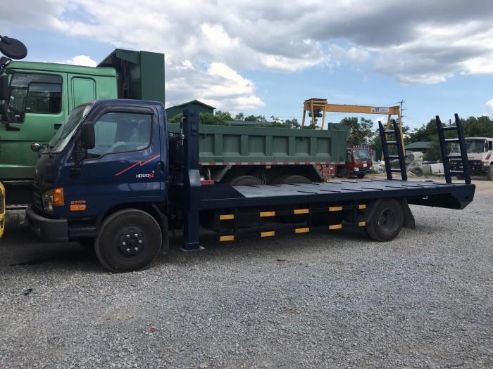 Bán xe tải Hyundai HD120SL 8 tấn nâng đầu chở máy công trình
