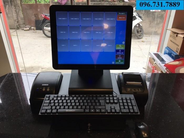 Máy tính tiền cảm ứng cho quán trà sữa giá rẻ nhất tại Đà Nẵng0