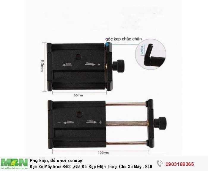 Kẹp Xe Máy Inox S400 ,Giá Đỡ Kẹp Điện Thoại Cho Xe Máy -  S400