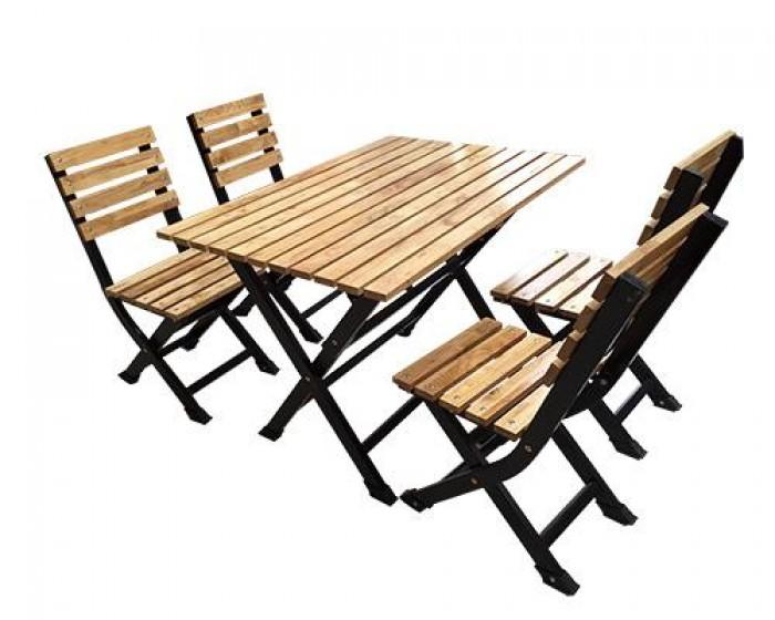 Bàn ghế gổ quán nhậu giá rẻ tại xưởng sản xuất HGH 7360