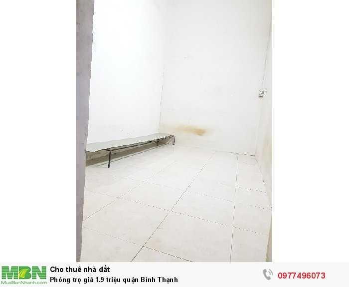 Phòng trọ giá 1.9 triệu quận Bình Thạnh