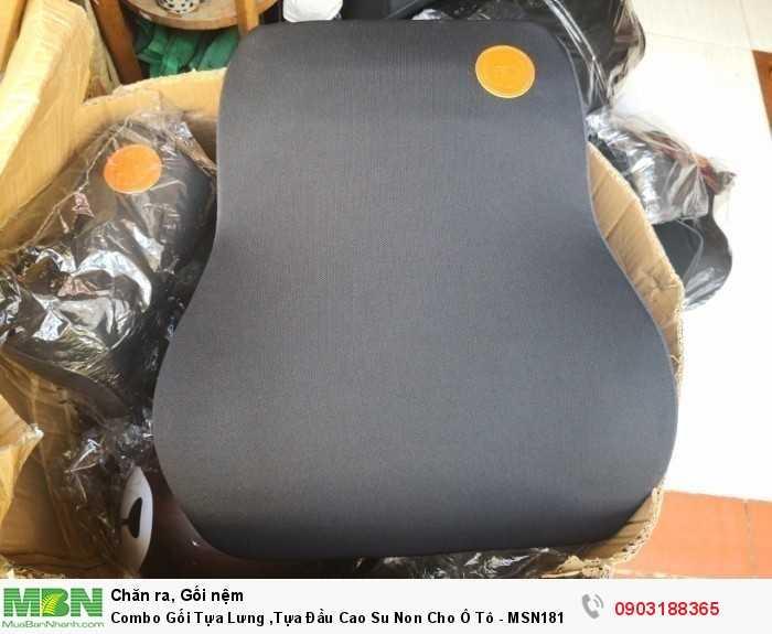 Combo Gối Tựa Lưng ,Tựa Đầu Cao Su Non Cho Ô Tô - MSN181350
