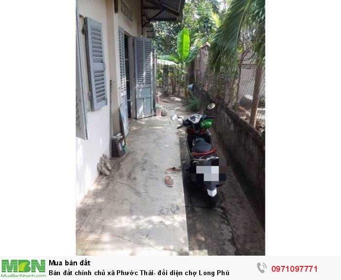 Bán đất chính chủ xã Phước Thái- đối diện chợ Long Phú