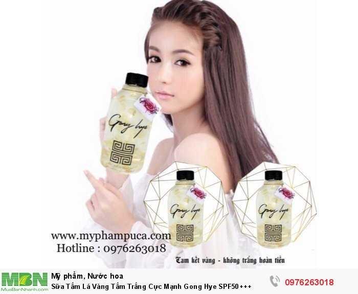 Sữa Tắm Lá Vàng Tắm Trắng Cực Mạnh Gong Hye SPF50+++