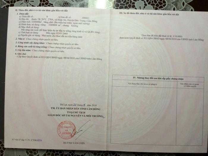 Bán quỹ đất 320ha Đức Trọng, Lâm Đồng. Tiếp khách thiện chí, đầu tư