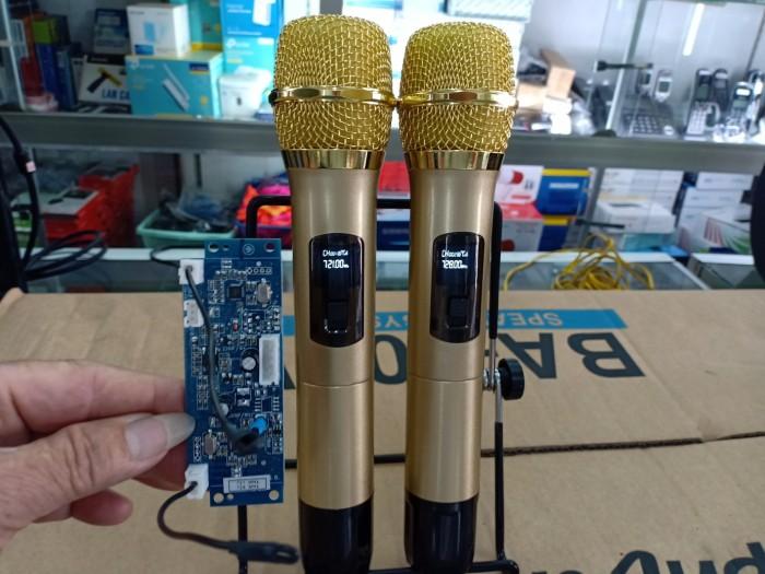 Micro không dây UHF kèm bo mạch dành cho loa kéo0