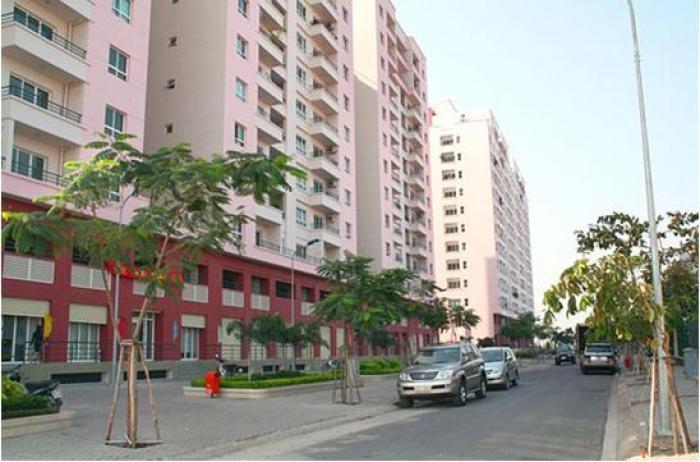 Nhận nhà ở ngay với căn hộ 2PN đã có sổ hồng trong KDC Conic với, DT 75m2.