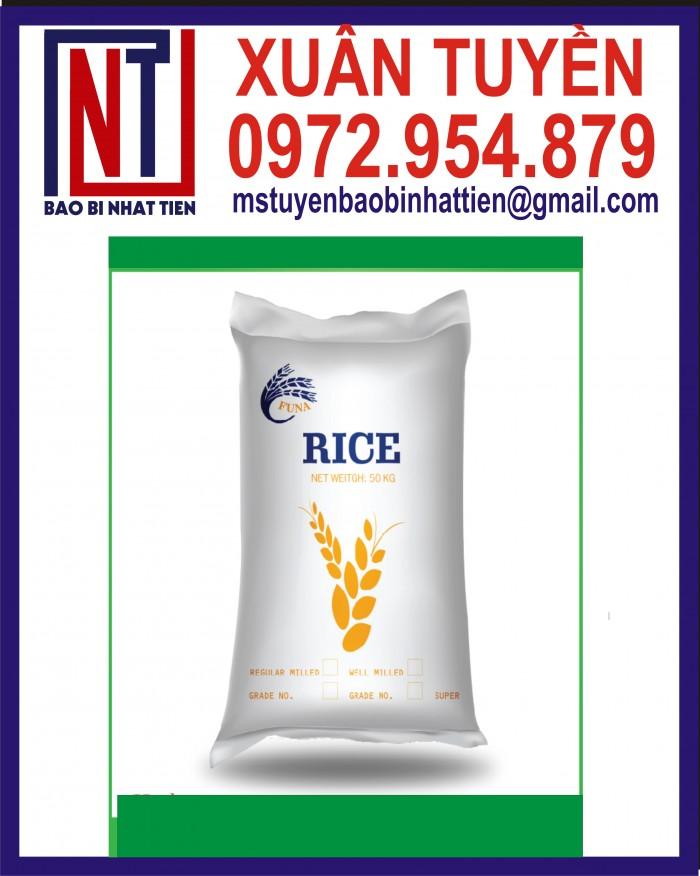 Bao đựng gạo 10kg, 25kg in flexo28