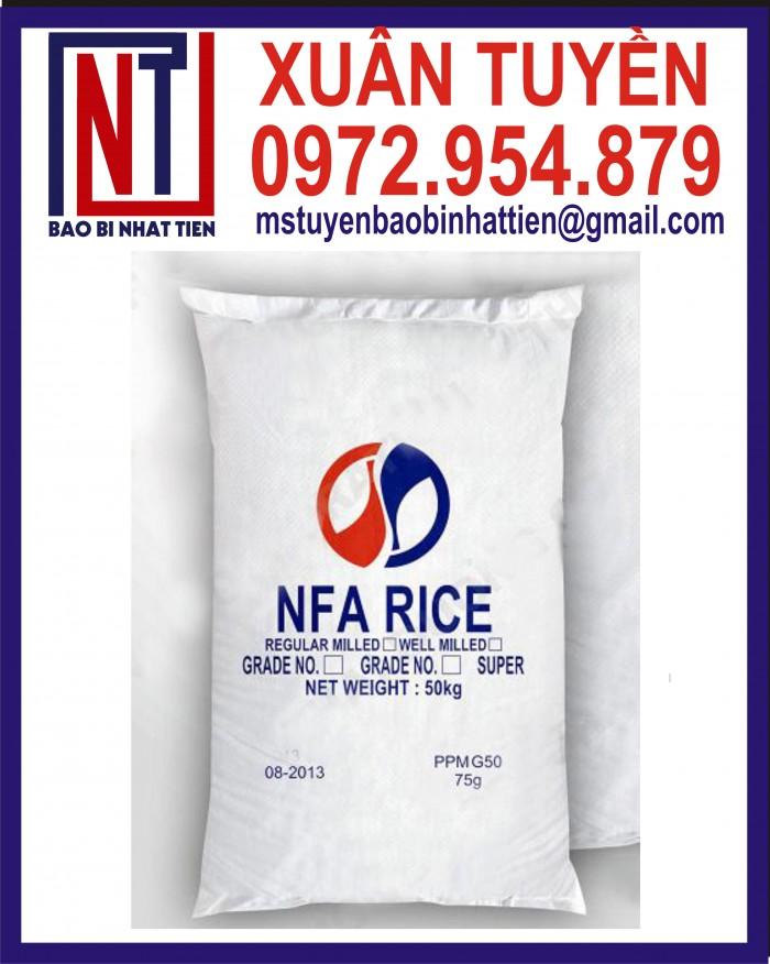 Bao đựng gạo 10kg, 25kg in flexo19