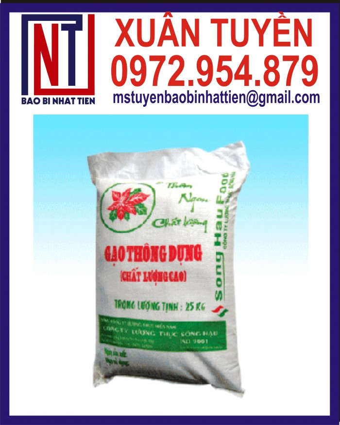Bao đựng gạo 10kg, 25kg in flexo21