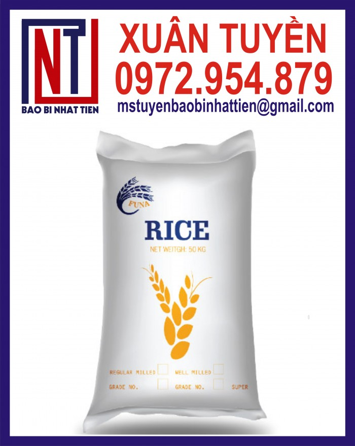 Bao đựng gạo 10kg, 25kg in flexo18
