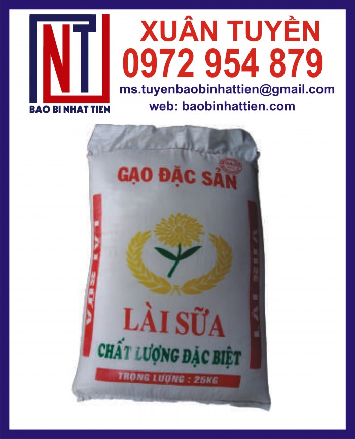 Bao đựng gạo 10kg, 25kg in flexo16