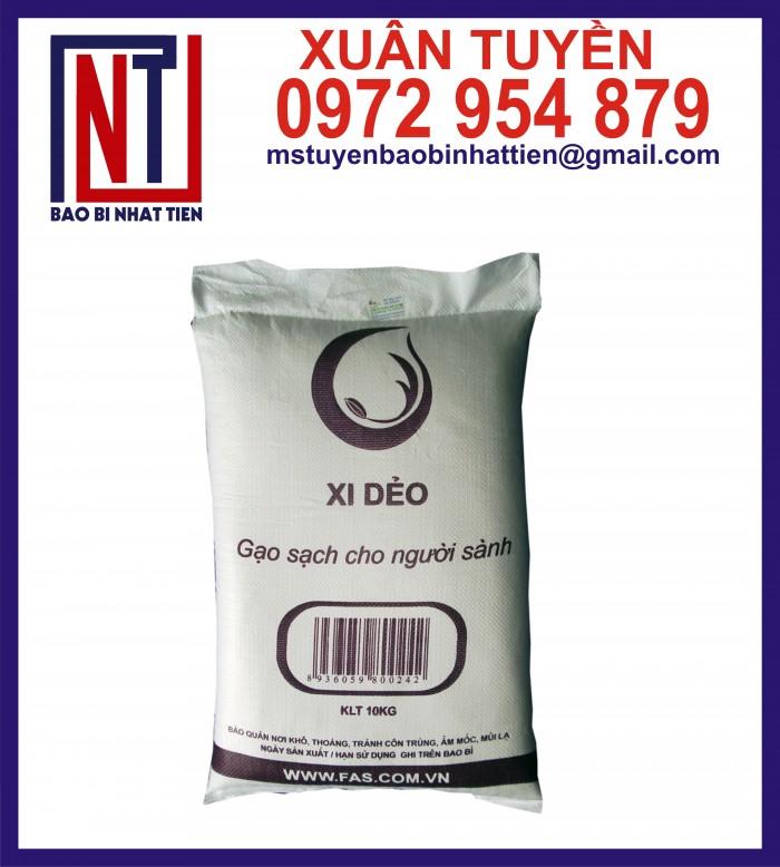 Bao đựng gạo 10kg, 25kg in flexo12