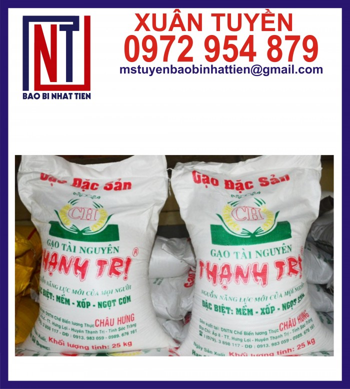 Bao đựng gạo 10kg, 25kg in flexo10