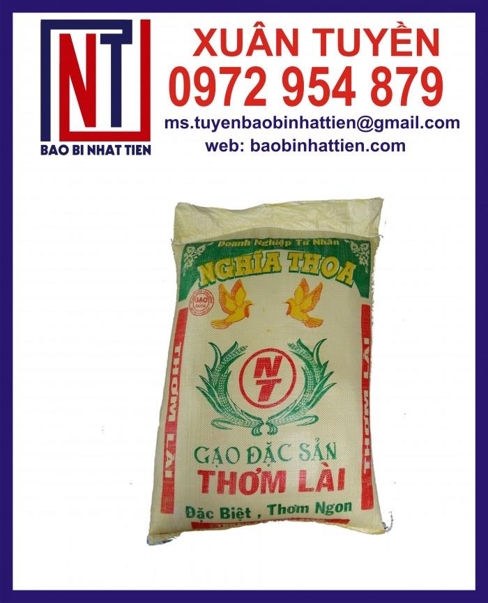Bao đựng gạo 10kg, 25kg in flexo4