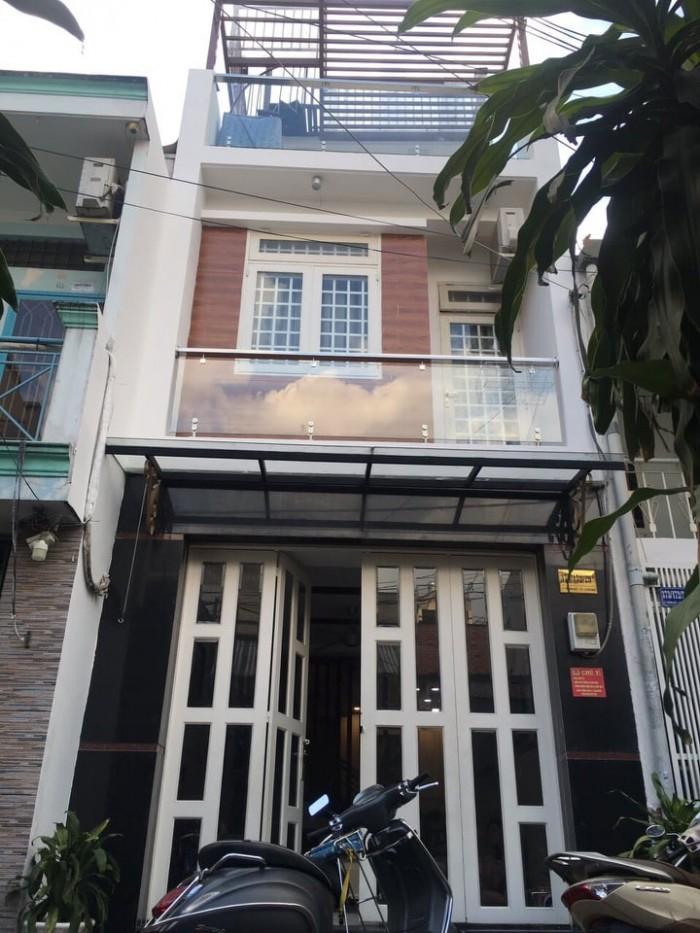 Nhà đẹp hẻm 6m, 3.6*15. Lê Văn Sỹ, P12, quận 3. 2 mặt thoáng.