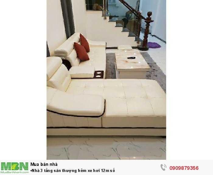 ▪Nhà 3 tầng sân thượng hẻm xe hơi 12m số