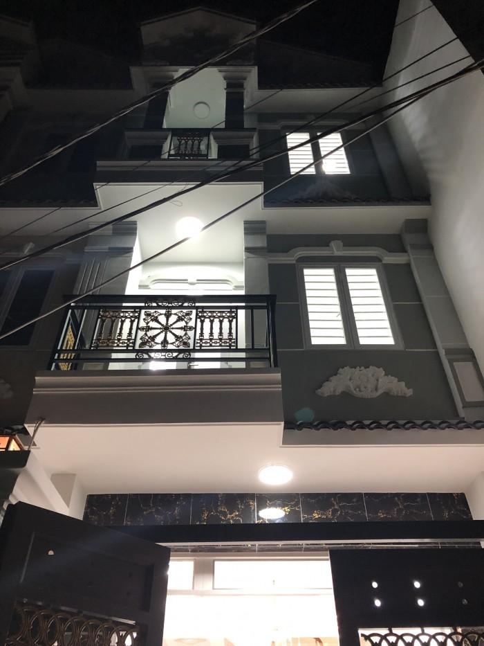 Bán nhà hẻm 1942 đường Huỳnh Tấn Phát, Nhà Bè, Tp.HCM. DT 4 x 16m, 3 lầu, sân thượng