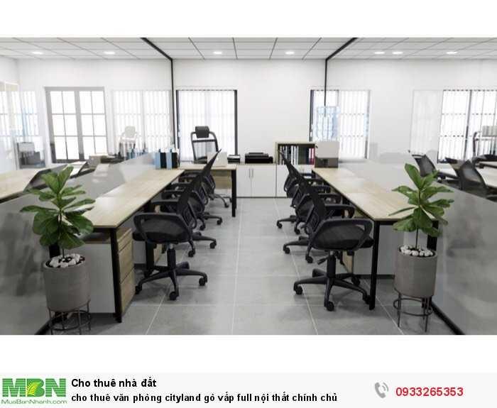 Cho thuê văn phòng cityland gò vấp full nội thất chính chủ