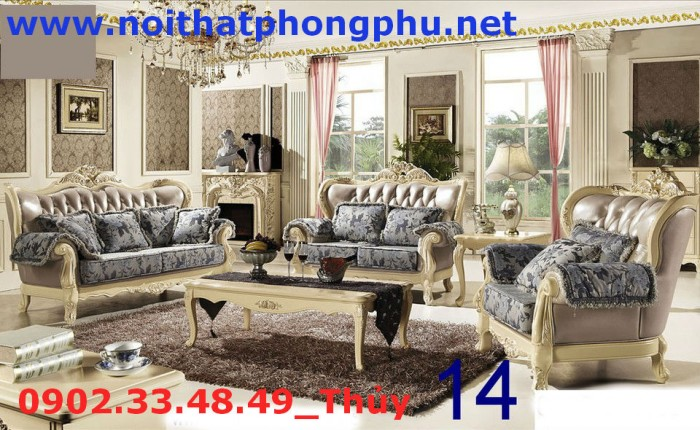 trọn bộ sofa cổ điển 2426