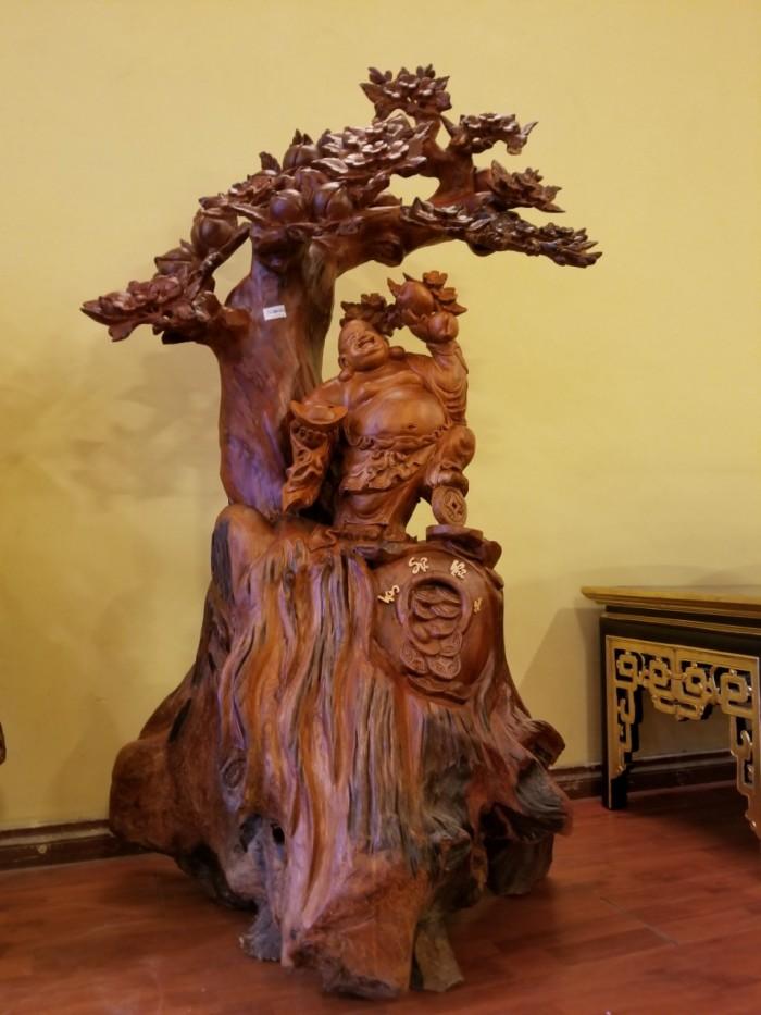 Tượng Di Lặc Hoan Hỷ Gốc Đào Gỗ Hương Việt Nam3