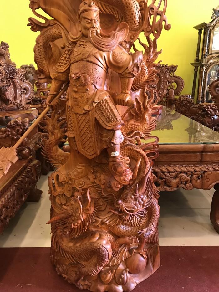 Tượng Quan Công Cưỡi Rồng Gỗ Hương Việt1