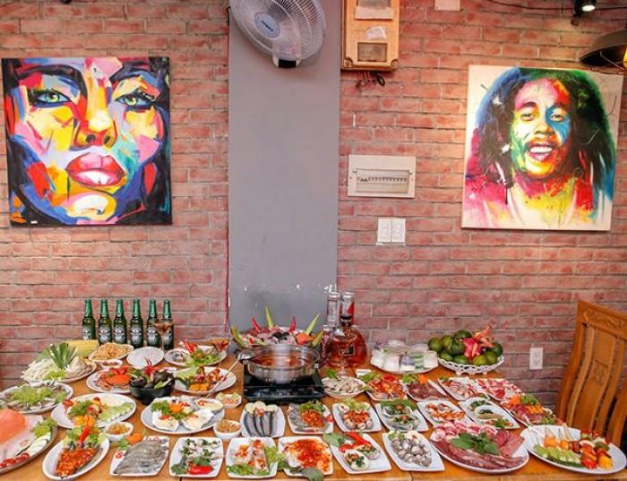 Buffet Hải Sản Nướng Lẩu HCM Nhà hàng Saigon Marvel Hostel giá rẻ25