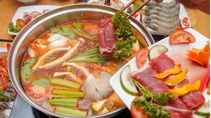 Buffet Hải Sản Nướng Lẩu HCM Nhà hàng Saigon Marvel Hostel giá rẻ28