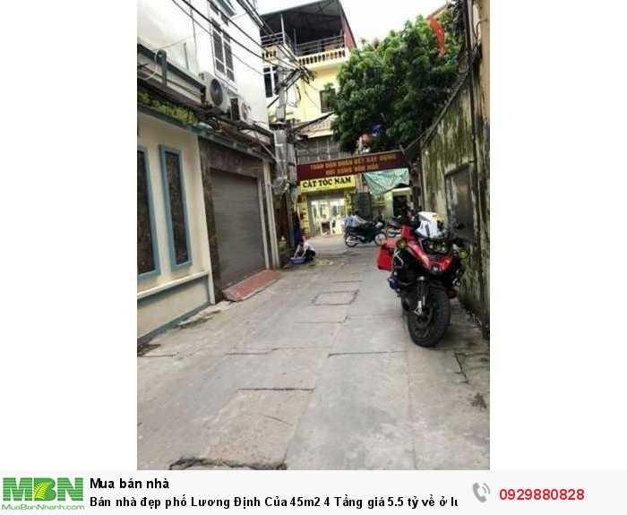 Bán nhà đẹp phố Lương Định Của 45m2 4 Tầng về ở luôn