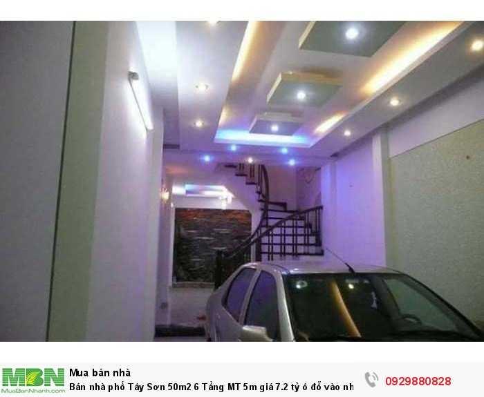 Bán nhà phố Tây Sơn 50m2 6 Tầng MT 5m ô đỗ vào nhà