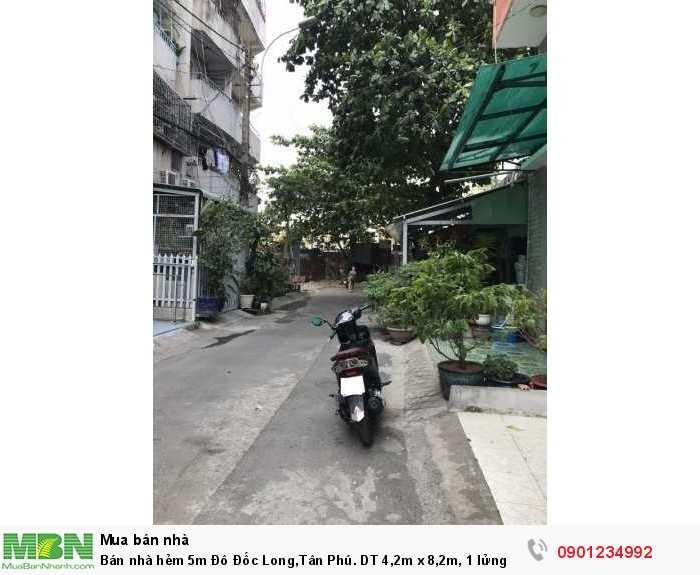 Bán nhà hẻm 5m Đô Đốc Long,Tân Phú. DT 4,2m x 8,2m, 1 lửng