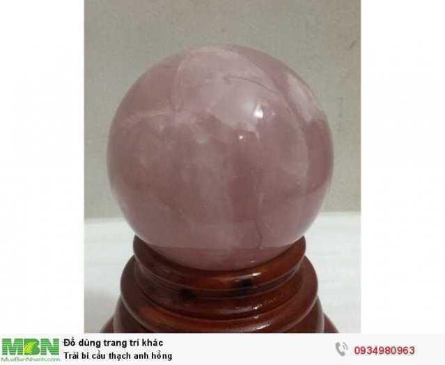 Trái bi cầu thạch anh hồng ( sỉ & lẻ ib )