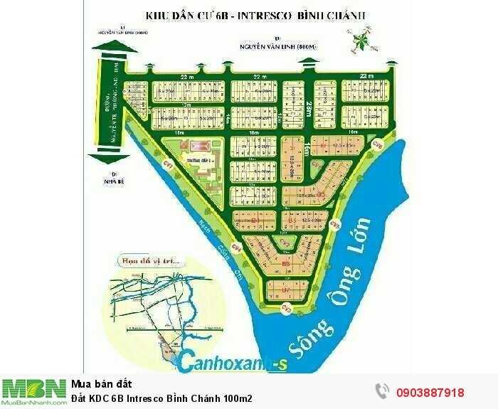Đất KDC 6B Intresco Bình Chánh 100m2