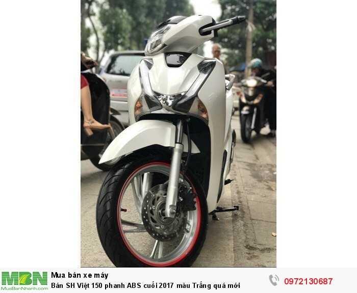 Bán SH Việt 150 phanh ABS cuối 2017 màu Trắng quá mới