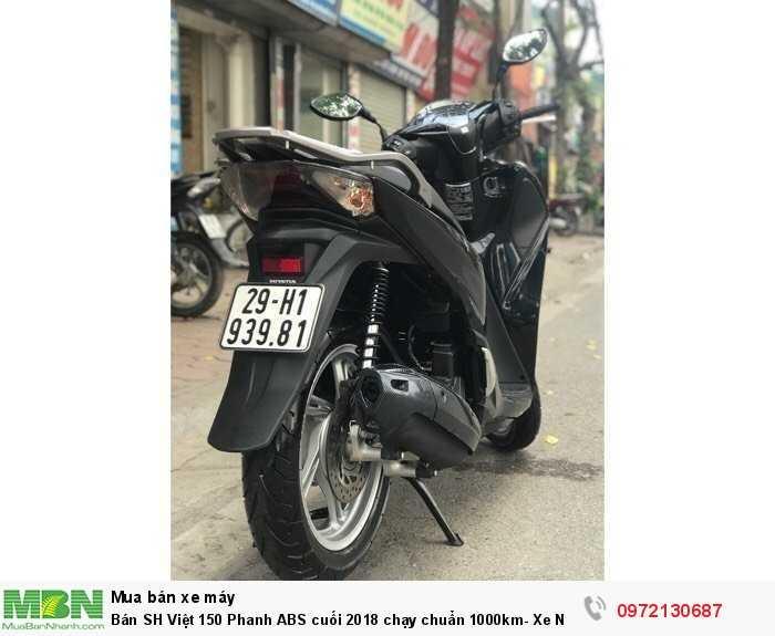 Bán SH Việt 150 Phanh ABS cuối 2018 chạy chuẩn 1000km- Xe Như Mới